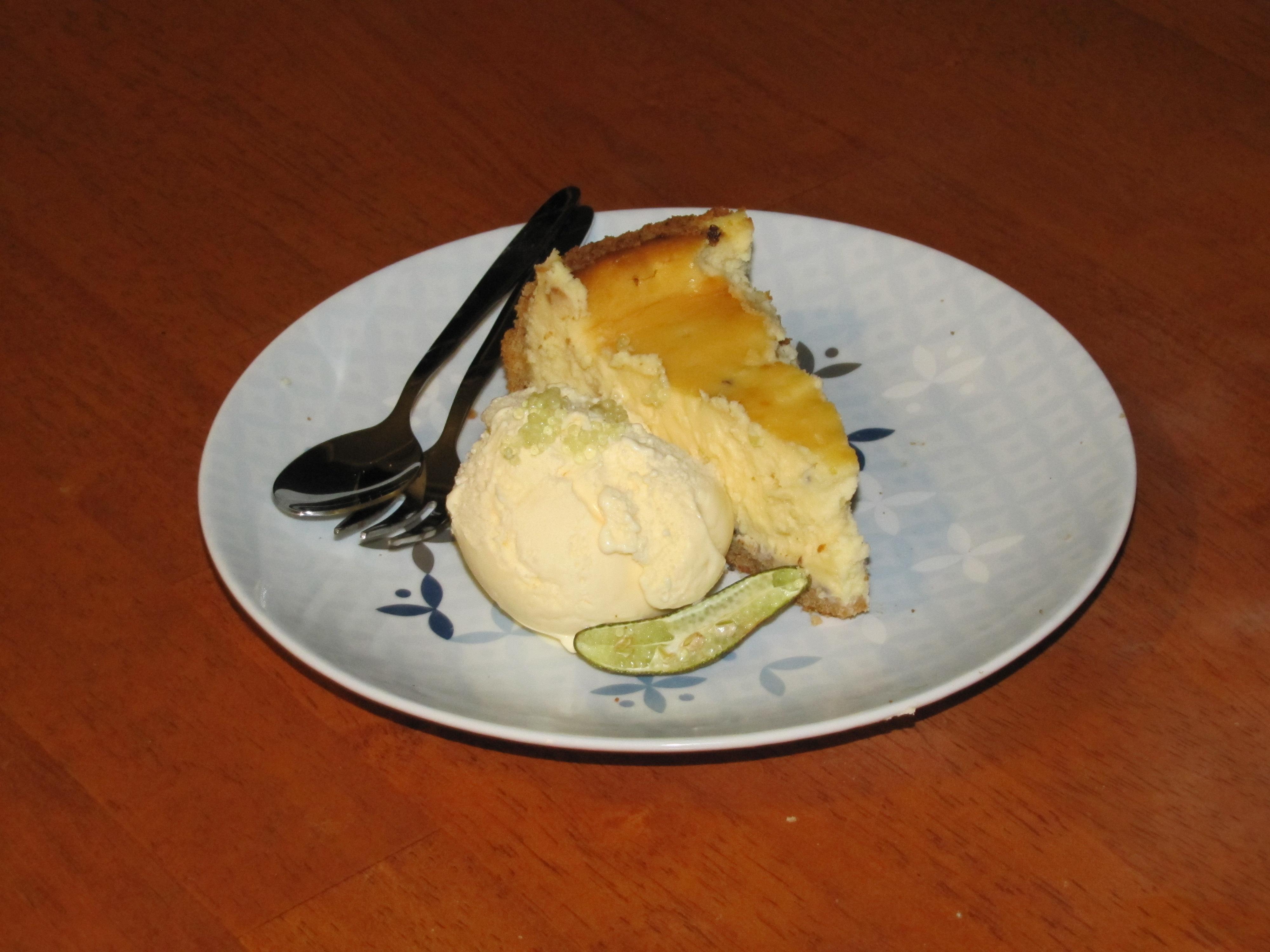 Finger Lime Cheesecake Martini Glass Dessert