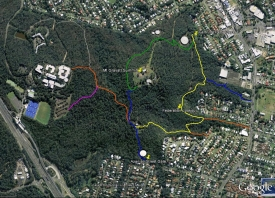 Mt Gravatt Conservation Reserve walking tracks