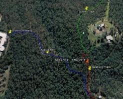 Noisy Pitta - Google Earth - 11 Mar 2013