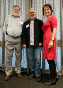 (l-r) Len Kann, Michael Fox, Laurie Deacon
