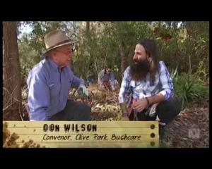 Don Wilson with Costa - Gardening Australia