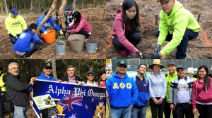 Ian Walker MP with Alpha Phi Omega team