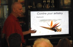 Alan presenting crop