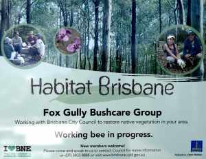 Habitat Brisbane Fox Gully sign