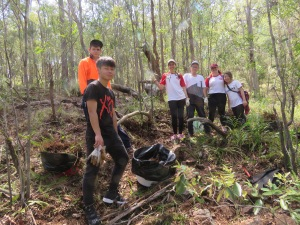 Proud Bushcare team - 23 March 2019